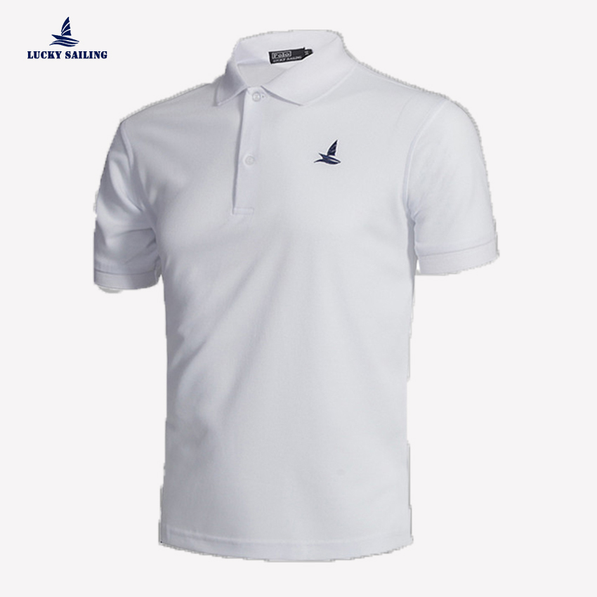 LUCKY SAILING 2015 New summer style Men Polo Shirt sport camisa masculina solid polo shirt Casual tenis masculino M-XXL 6color