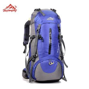 New 50L bagpack mountain outdoor adventure travelling waterproof foldable hiking backpack for camping