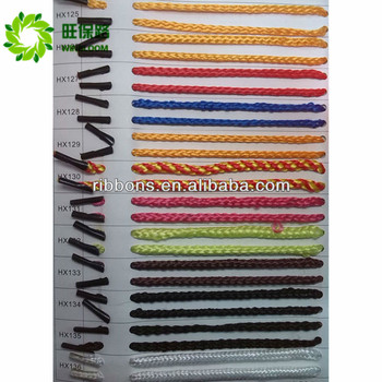 gold&silver wire rope Polyester handle rope Elastic curly shoelace Elastic cord with