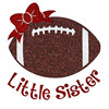 Wholesale Football Little Sister Glitter Transfer