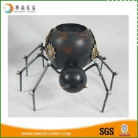 Wholesale Antique Metal Spider Halloween Decoration Candle Holder