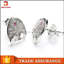 cute animal 925 sterling silver stud earrings