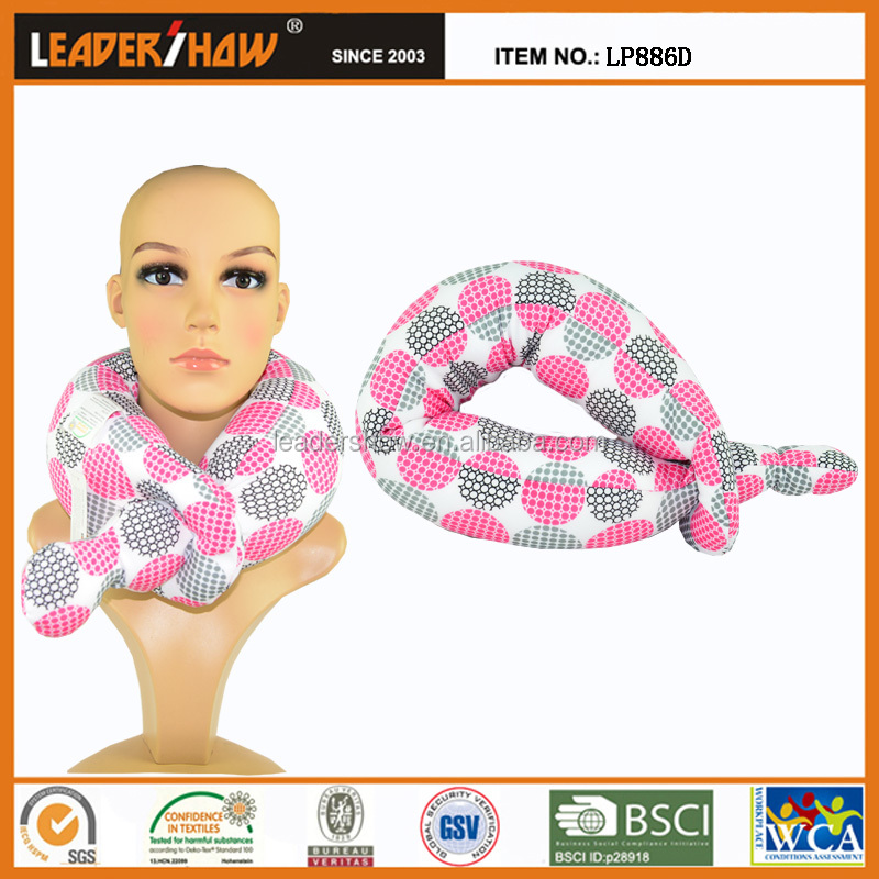 Folded micro beads neck travel pillow with best sex positions image