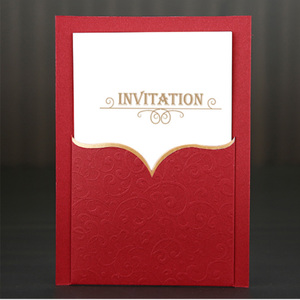 Luxury customized fancy paper greeting card, paper invitation card