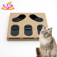 New hottest interactive treat food hiding puzzle wooden pet toys for dogs and cats W06F068