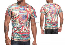 Sublimation custom print t-shirt for wholesale