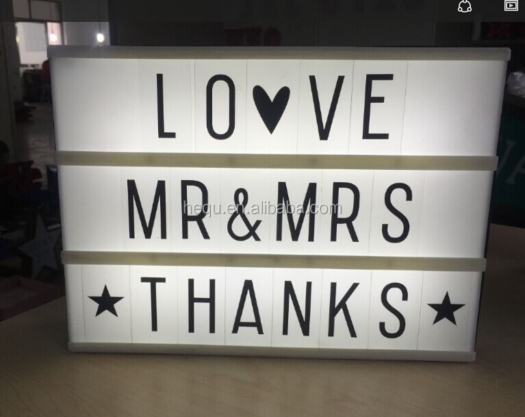Free Combination Letters Acrylic Led Advertising Light Box