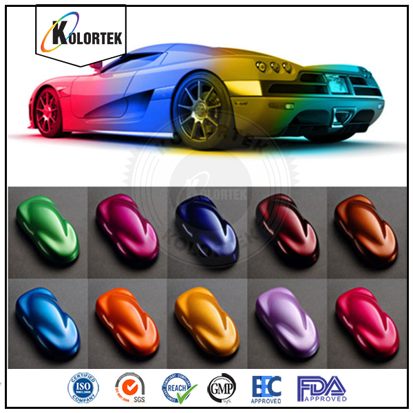 Multi color auto paint colors pigment, pearl pigment for car paint coating