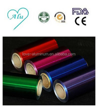 Environmental Disposable Pollution-free Your Logo Printed Colored 18mic Aluminum Foil For Kitchen Printing Foil