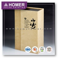 Different Types Unique Wine Hologram Printed Paper Box Packaging