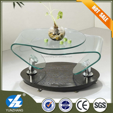 Luxury Glass Coffee Table Indian Style Living Room Furniture