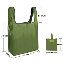 Eco Reusable Shopping Bag Foldable Polyester With Logo