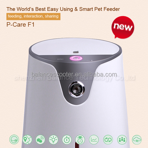 Pets Automatic Pet Feeder Food Dispenser for Dogs & Cats Features Distribution Alarms, Portion Control & Voice Recording Tim