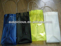 Transparent PVC Ice Bag Wine bag with Handle