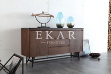 Oak Blessing Solid Wood Studio Sideboard Wooden Buffet Table Modern Solid Wood High End Knock Down Kitchen Sidecoard