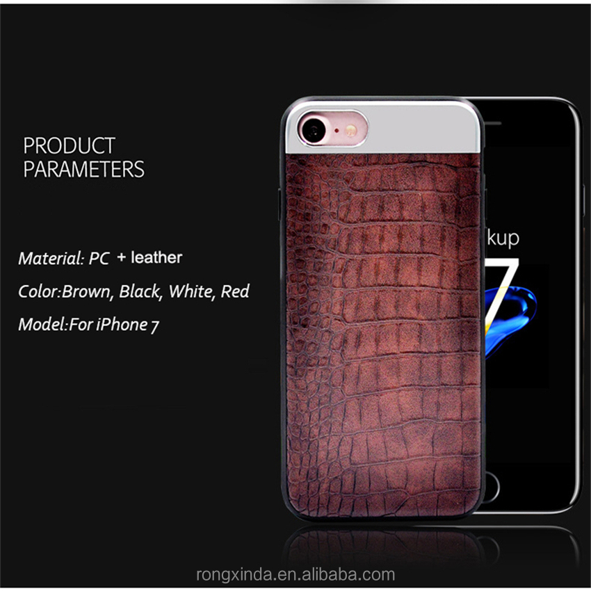 2017 Amazon hot Selling for iPhone 7,for iphone 7 accessories,leather case for iPhone 7 PU crocodile leather case covers