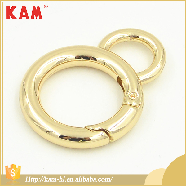 Fashion decorative bag accessories metal gold buckles for woman