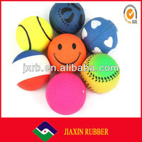 Wholesale colorful solid ball pet toys for dogs bites
