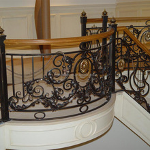 top sale metal fence balustrade parts decorative iron stair balusters with cast aluminum handrail