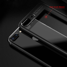 CAFELE Newest Original Clear Fashion TPU +PC slim Mobile Phone Back Cover Transparent Cell Phone Case for Iphone 7 8 plus
