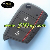 Topbest good price products for skoda silicone car key cover for skoda 3 button no logo