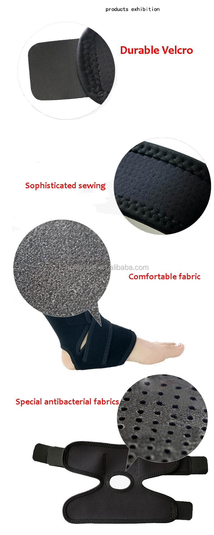 Ankle Support Brace, Fully Adjustable Open Heel & Wrap Around Stabilizer Straps For Maximum Support HA01631