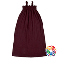 Plain Dyed Double Crepe Pattern Dresses Spring & Summer Girls Long Dress 0-6 Yaers Old Baby Girl Maxi Dress