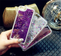 Fashion Quicksand Drift Sand Phone Case For iPhone 6 6s Liquid Glitter Star Mobile Phone Cases for Sumsung