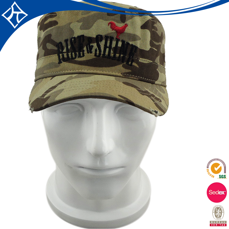 Wholesale outdoor military style baseball cap,green military caps hats