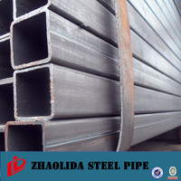 wholesale square pipe ! green house alibaba square steel tube for dog cage rhs 50*100
