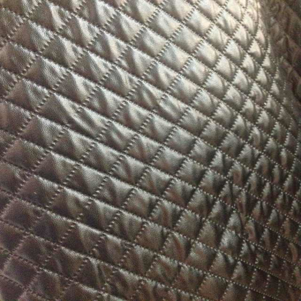 Hot selling pu quilted faux leather fabric