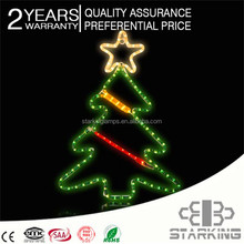 3d Led Holiday 2014 promotional christmas flying santa motif light