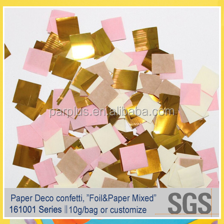 Weddings Party Foil Paper Mixed Square Confetti