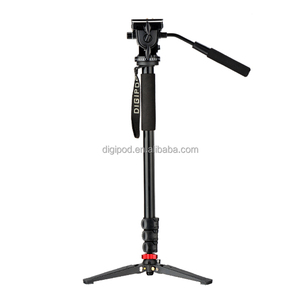 DIGIPOD MP-274VH Fluid Video Pan Head 69inch Flexible Camera Monopod Stand With Tripod For Telescope