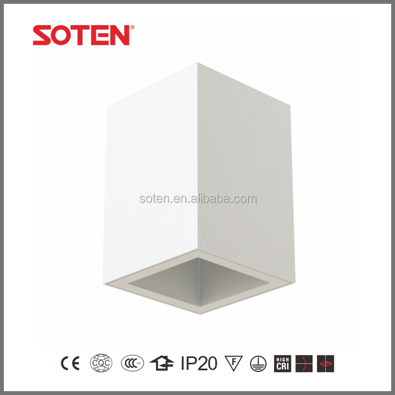 square downlight housing 8W 10W cob surface mounted led down light with 5 years warranty