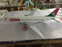 world first electric prop perfect driven paper airplane/customized Azman airline B737 90cm aircraft plane model