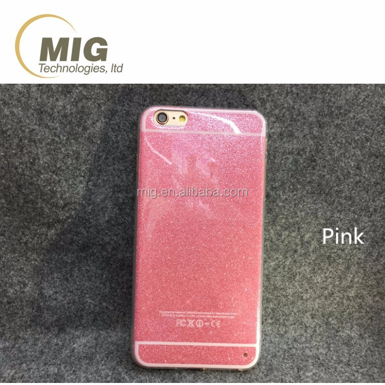 Bling shiny 4 colors soft tpu silicone case for iphone 6 plus, cheap price mobile phone cover for apple iphone 6 6s plus case