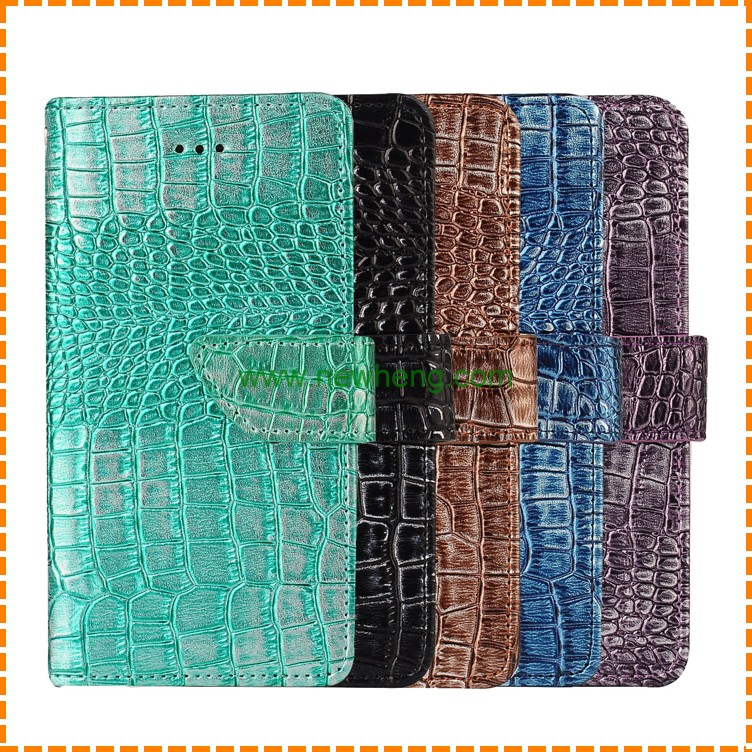 Hot Selling luxury 5 colors Crocodile Real Wallet leather Case for iPhone 7