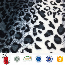 100% polyester animal design printed velvet fabric for toys /garments
