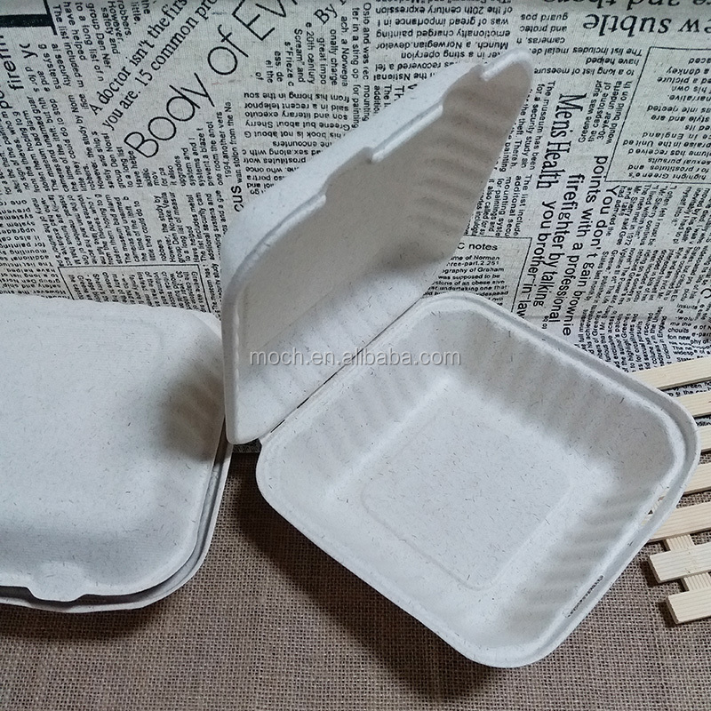 Wheat Straw Disposable Food Container Eco Friendly To Go Lunch Box