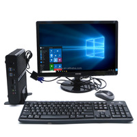 Small Tower computer all in one PC i7 gaming desktop barebone Server Intel Core 6500U micro pc Fanless Mini PC X86 low power 12V