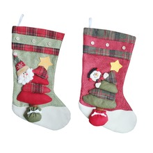 Christmas Stocking Sock Gift Bag Small Santa Claus/Snowman/Reindeer Sack Decor Christmas Tree Ornament Kids Candy Bag