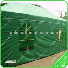 Flexible shady wood frame tent
