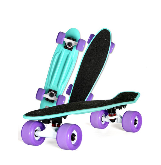 Wholesale 22inch plastic skateboard with griptape mini cruiser skate board