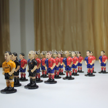 custom mini 3d footballplayer action figure/OEM plastic action figures plastic toy football player manufacturer