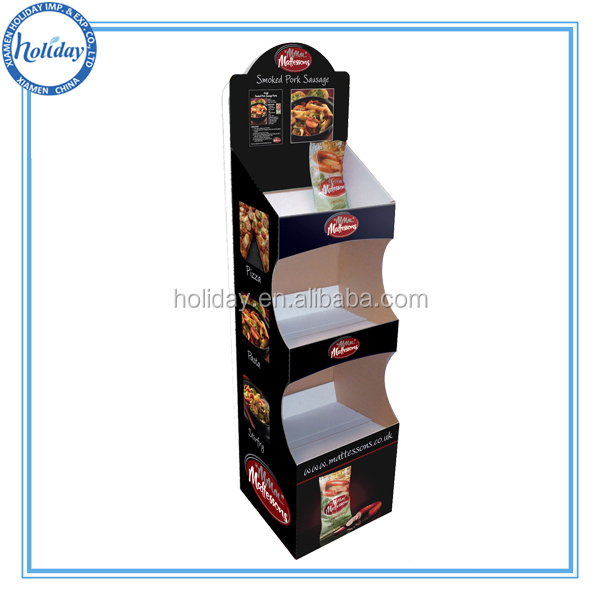 Easy assembled and shipment carton retail display racks and stands, meat display shelf