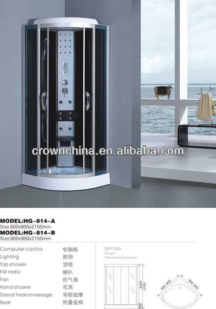 2014 new design steam shower cabinet portable steam chamber