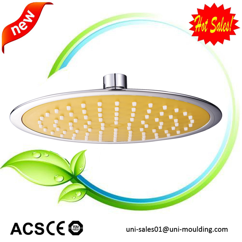 Ultra Thin 8 Inch Plastic ABS Chrome Plated Rain Shower Head