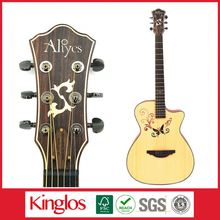 Wholesale Artistic Carving Colour Solid Wood Acoustic Guitar Made By Chinese Guitar luthier,for Guitar enthusiast (S41U-008-083)