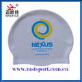 Manufacturer silicone waterproof cheap swim caps